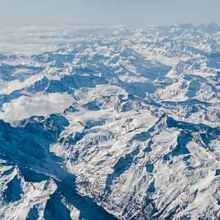 Luftaufnahme Alpenlandschaft