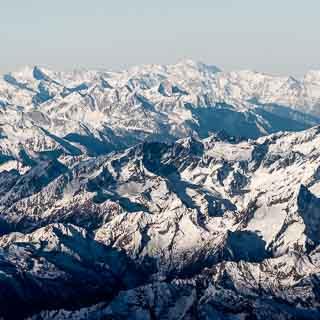 Alpen aus der Luft