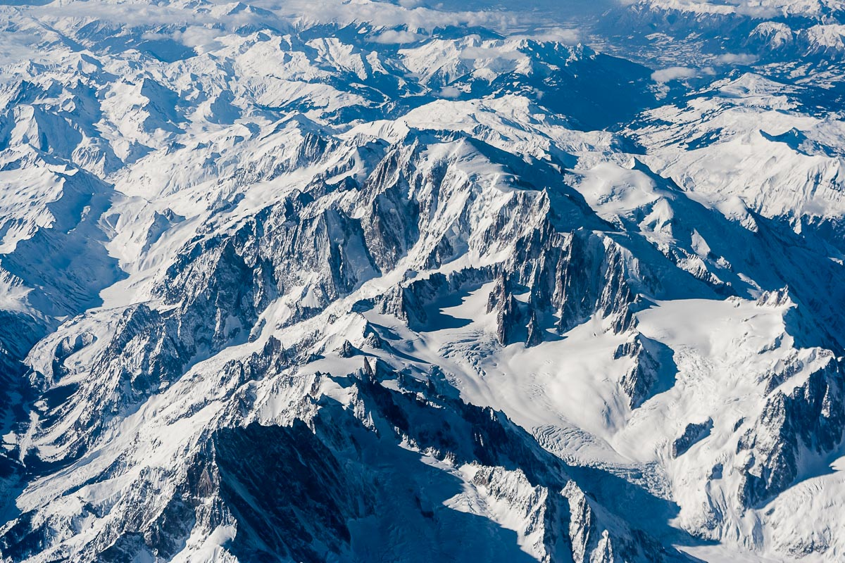 Aerial view of the Mont Blanc