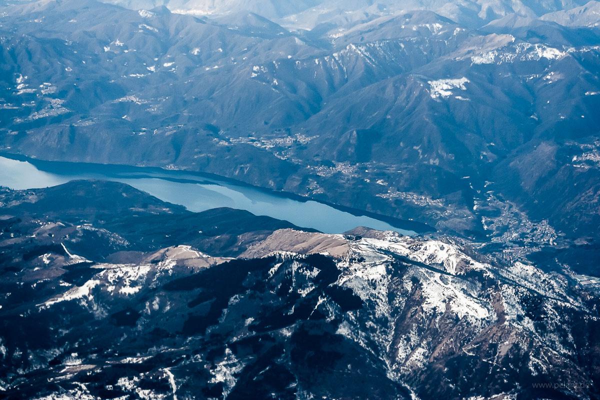 Ortasee aus der Luft