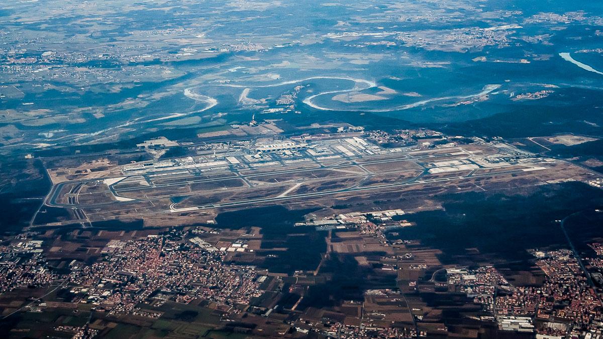 Flughafen Mailand-Malpensa Luftaufnahme