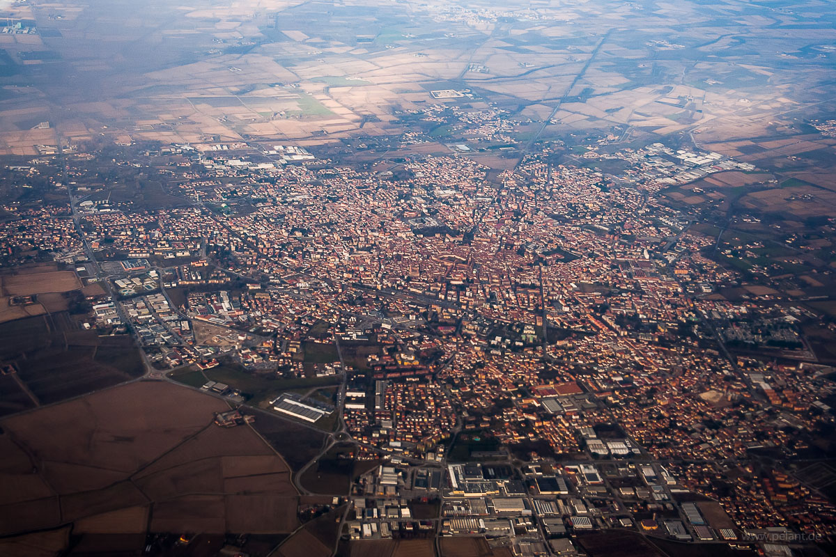 Aerial view of Vigevano
