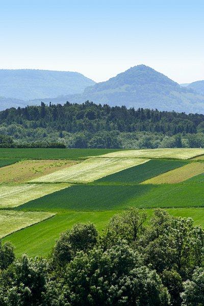 Felder und Achalm (Schwäbische Alb)