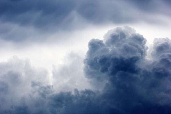 Detail einer Gewitterwolke
