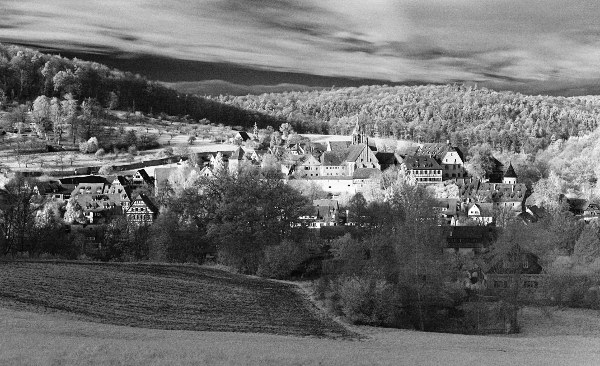 infrared view of Bebenhausen