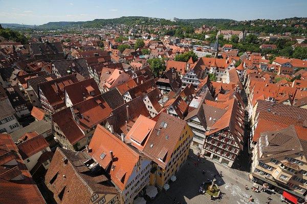 Blick auf Tübingen vom Turm der Stiftskirche
