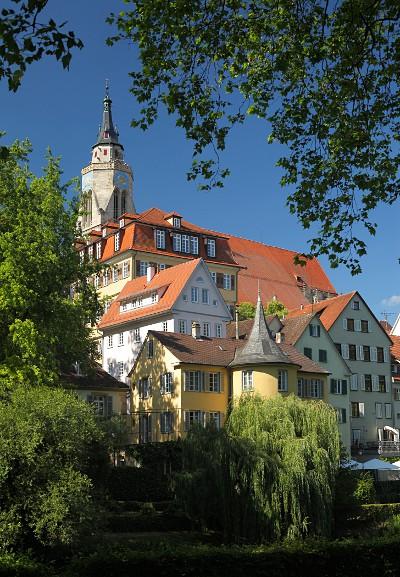 Tübingen: Stiftskirche und Hölderlinturm