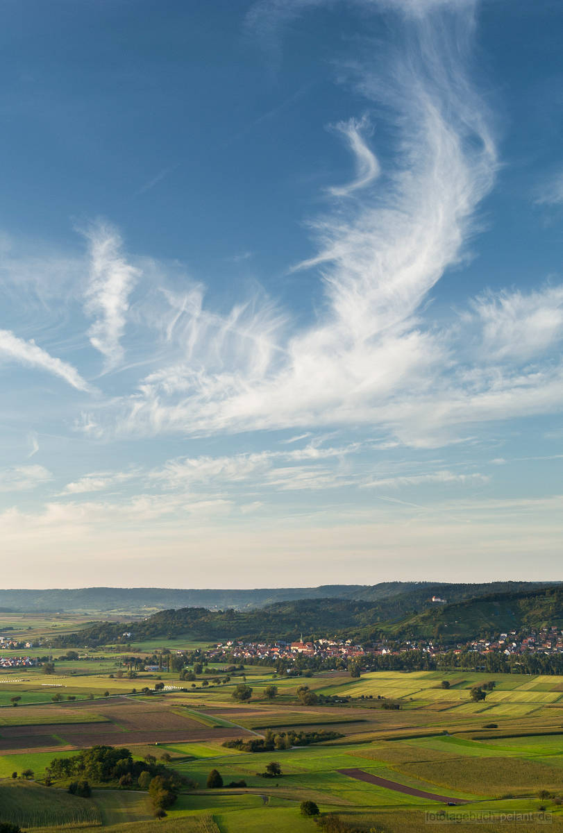 view of Ammer valley and Unterjesingen