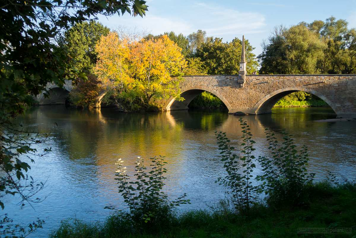 Ulrichsbrücke over Neckar river in Köngen