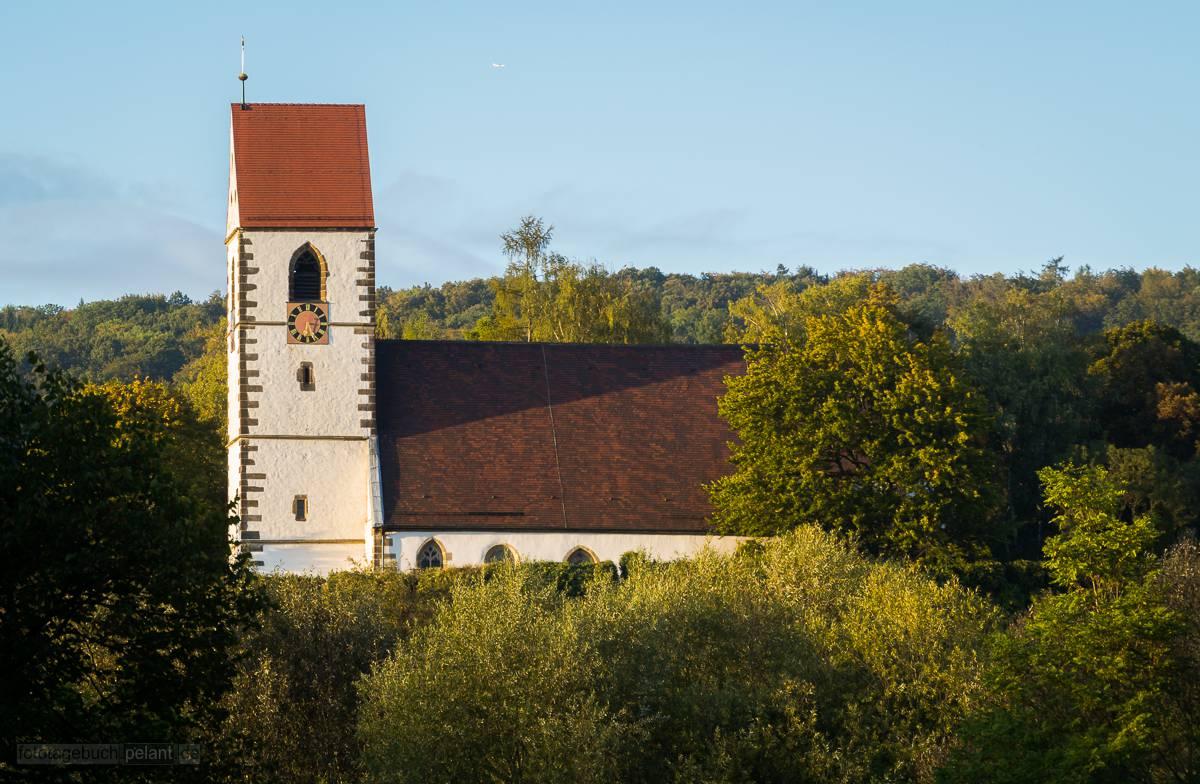 St. Blasius-Kirche in Plochingen im Abendlicht