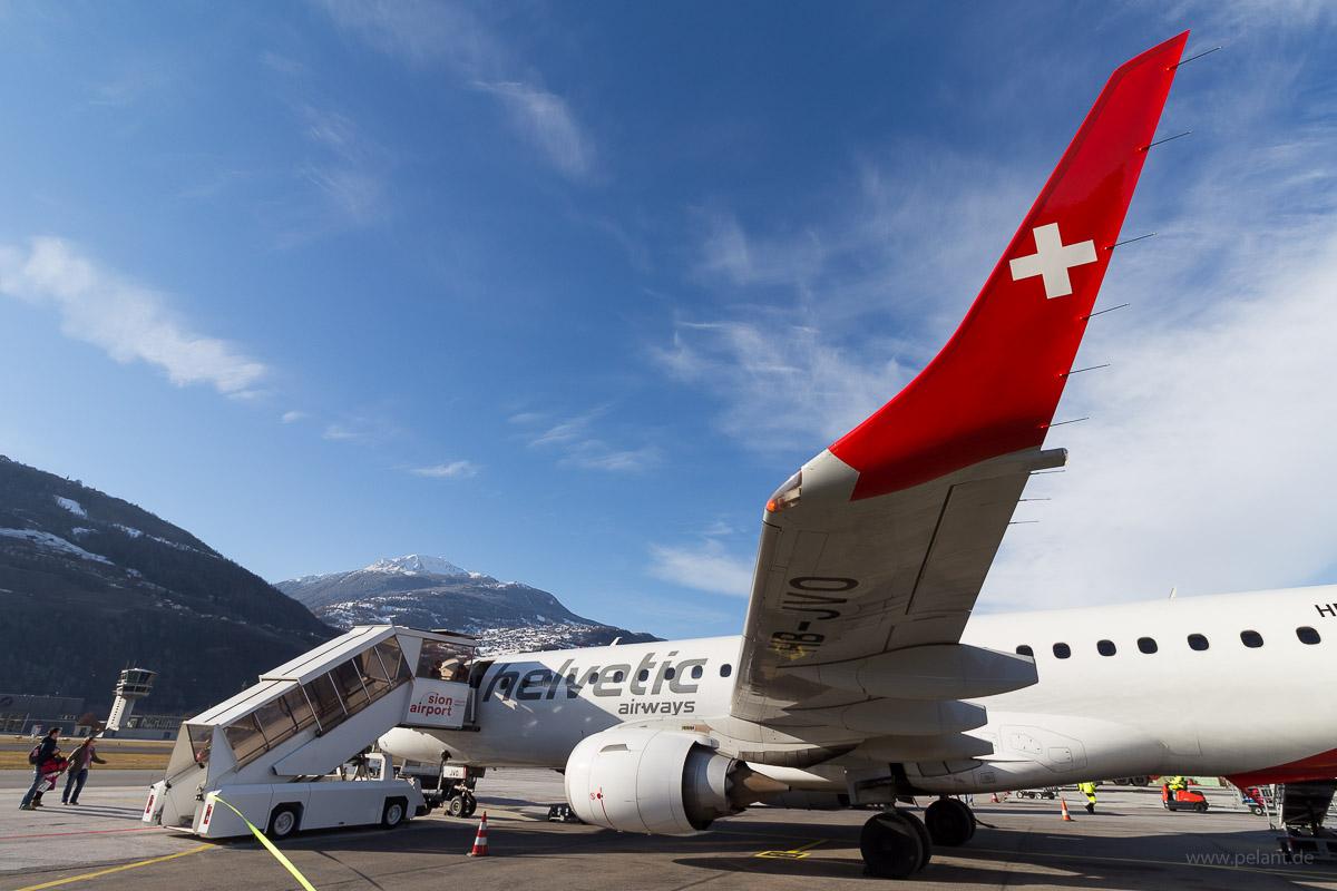 HB-JVO am Flughafen Sitten (SIR, Sion)
