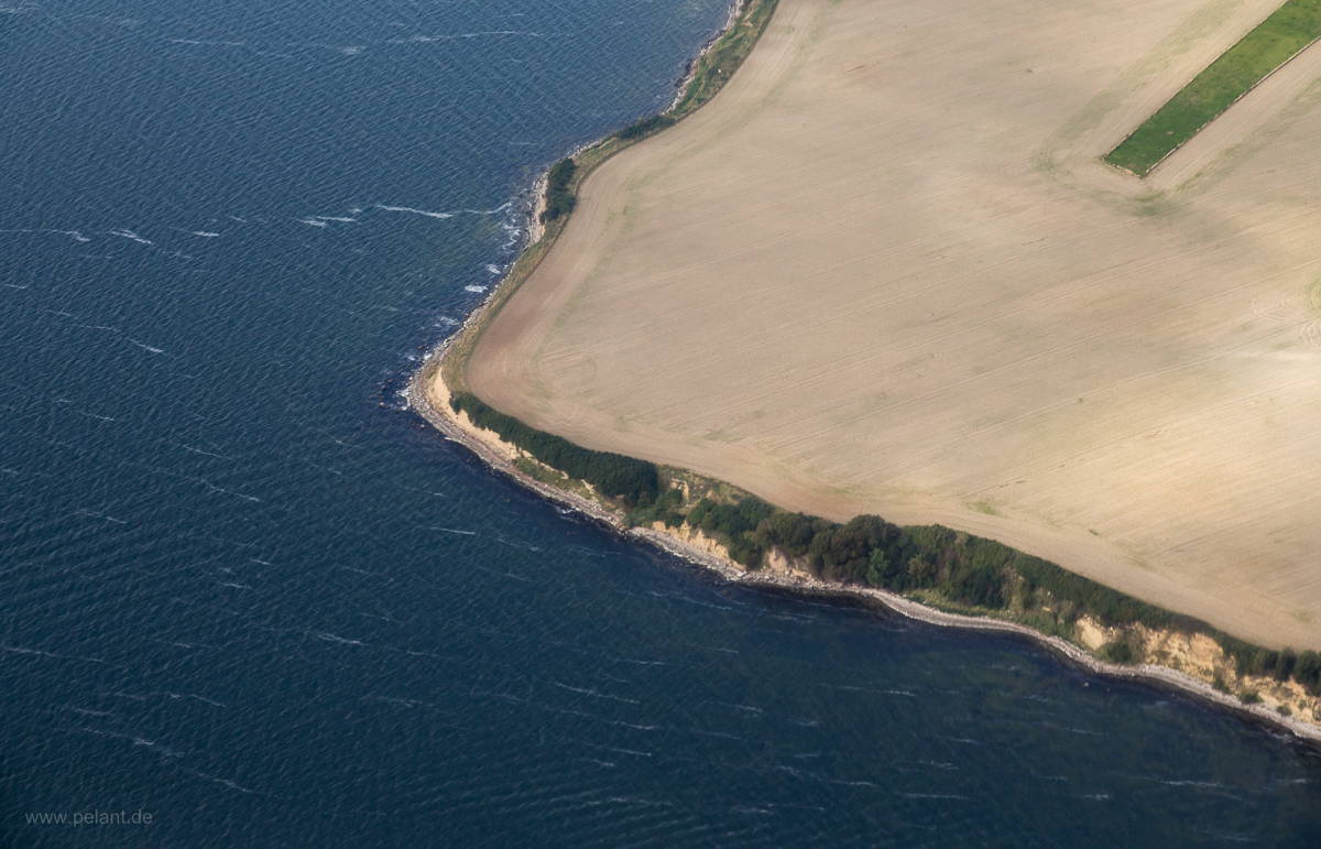 Aerial view of Rügen´s coast near Gobbin