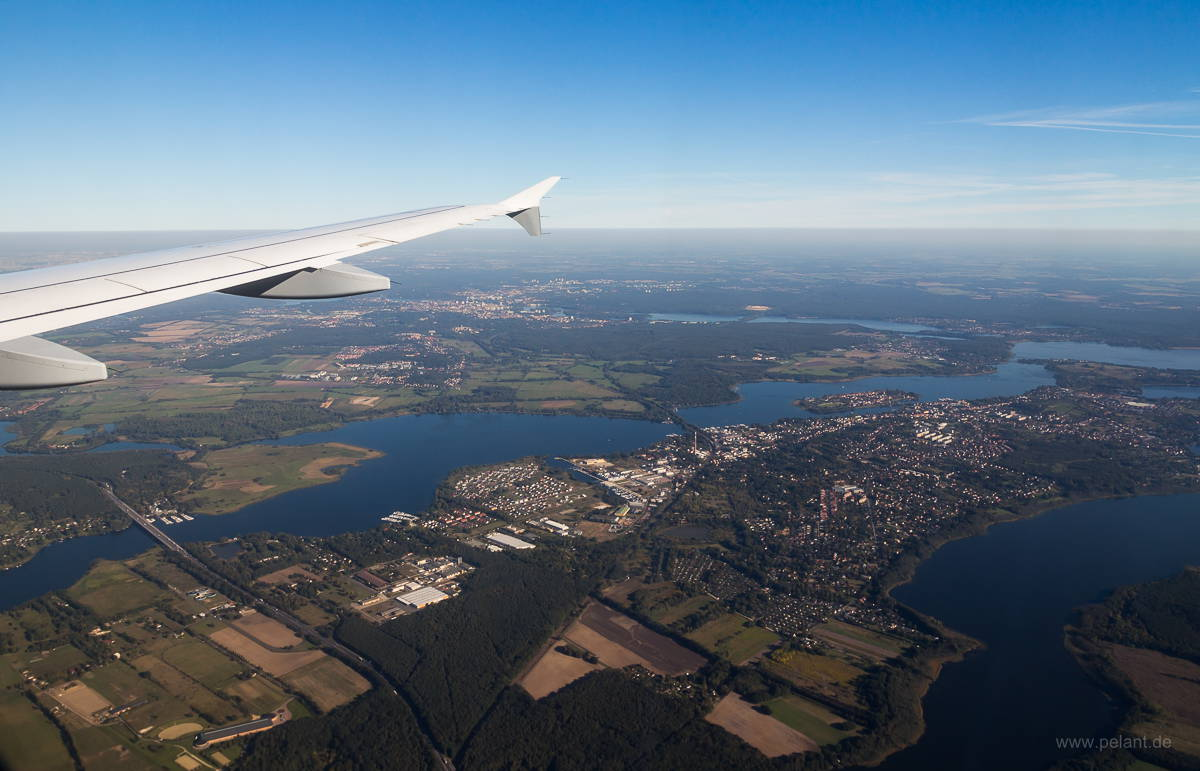 Aerial view of Werder (Havel) and Potsdam