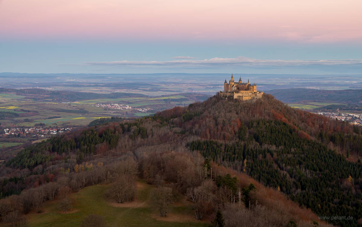 Hohenzollern castle at dawn