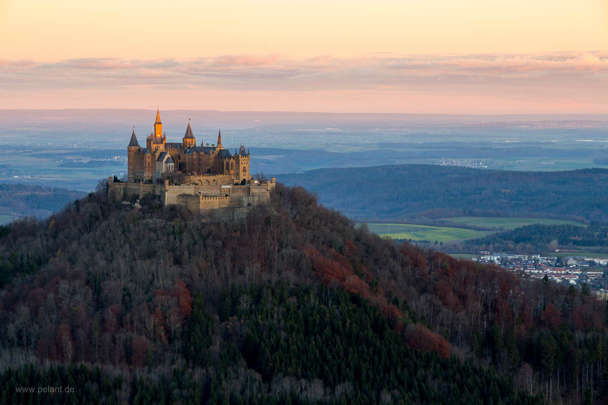 sunrise Hohenzollern castle