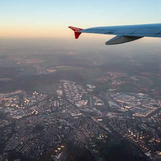 aerial view of Böblingen, Sindelfingen and Mercedes-Benz Sindelfingen Plant