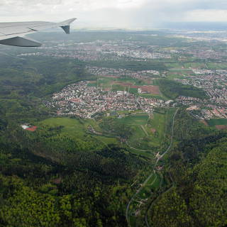 Aerial view of Musberg and Leinfelden