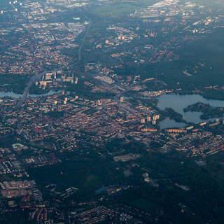 Luftaufnahme von Potsdam