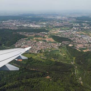 View of Musberg, Leinfelden, Oberaichen and Stuttgart-Vaihingen