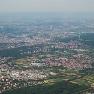 Blick auf Stuttgart von Süden (Stuttgart-Vaihingen, Möhringen und Degerloch)