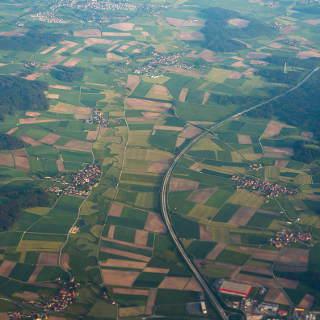 A7 nahe Feuchtwangen, Luftaufnahme