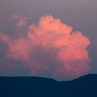 Gewitterwolke über der Schwäbischen Alb