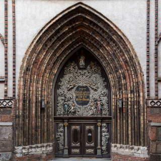 Westportal der Kirche St. Nikolai in Stralsund