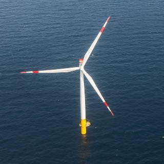 Offshore Windkraftwerk in der Ostsee, Luftbild