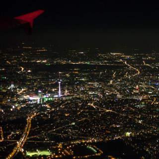 Berlin bei Nacht (Luftbildaufnahme)