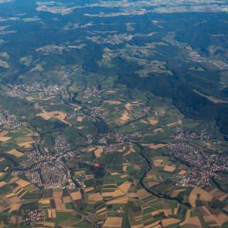 Luftaufnahme von Weissach i.T. und Allmersbach im Tal, Welzheim und dem Welzheimer Wald