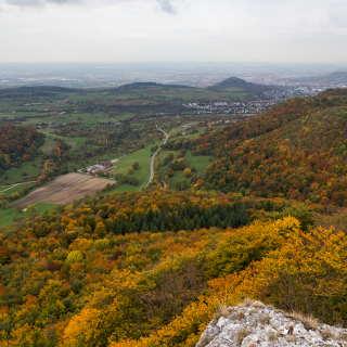 Blick vom Wackerstein Richtung Pfullingen