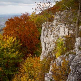 Wiesfels bei Glems im Herbst