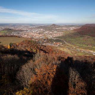 Pfullingen vom Schönbergturm im Herbst
