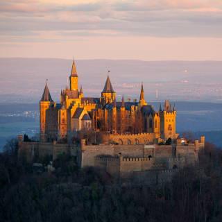 Burg Hohenzollern Sonnenaufgang