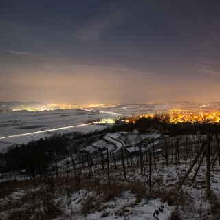 Blick auf Rottenburg und Wurmlingen bei Nacht