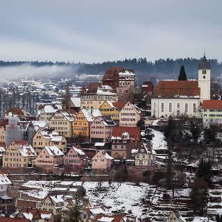 Altensteig (Schwarzwald) im Winter