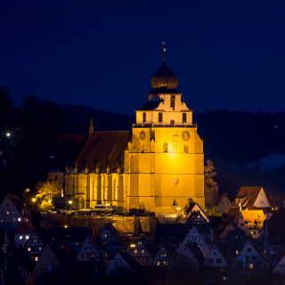 Herrenberg´s church at night