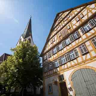 Pfarrhaus von Aichtal-Grötzingen, Fachwerkhaus