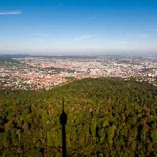 Blick auf Stuttgart vom Fernsehturm