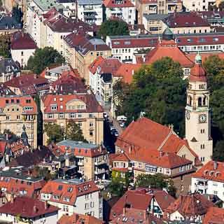 Stuttgart Heusteigviertel mit Markuskirche