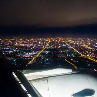 Luftbild Peking bei Nacht
