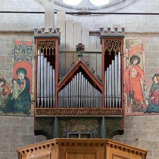 Orgel in der Basilika von Valeria, Sitten, Schweiz