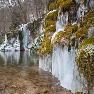 Gütersteiner Wasserfall im Winter