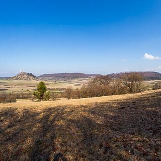 view of the Kornbühl hill on the Schwäbische Alb
